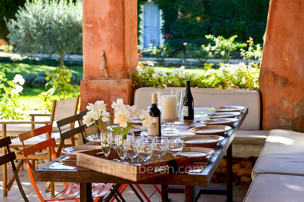 Courtyard dining table