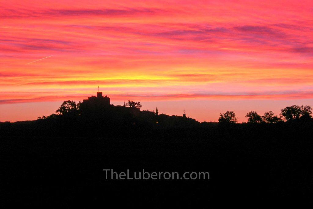 Ansouis sunset