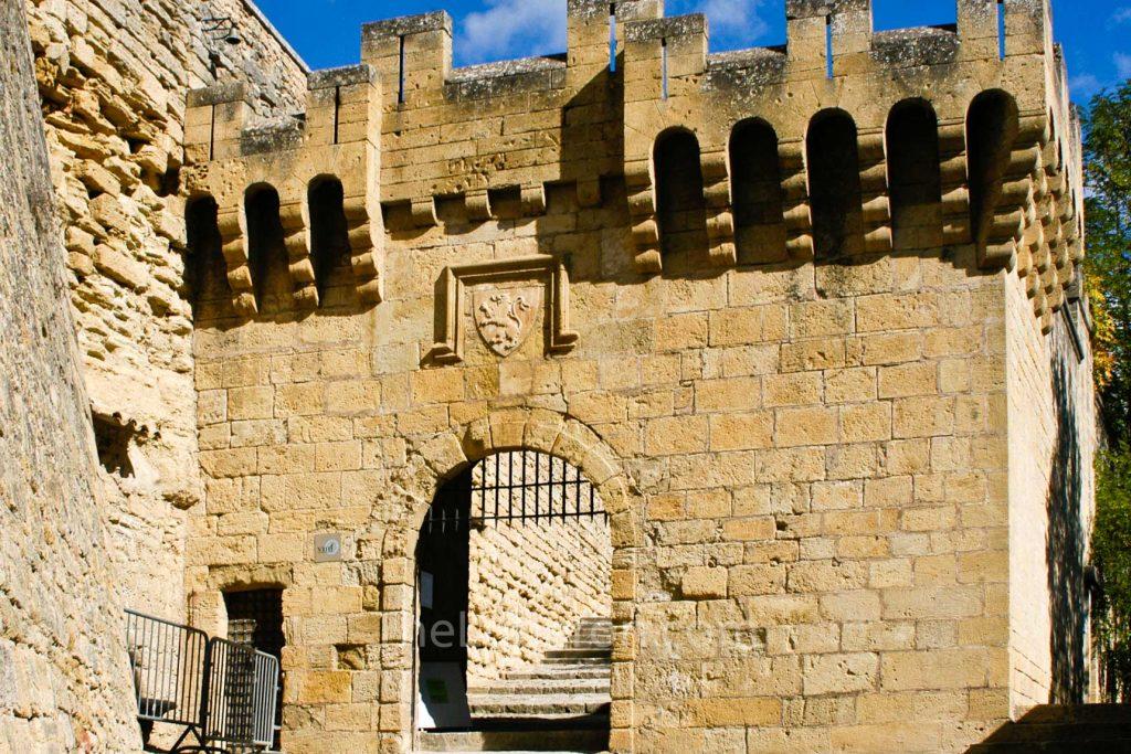 Ansouis castle entrance