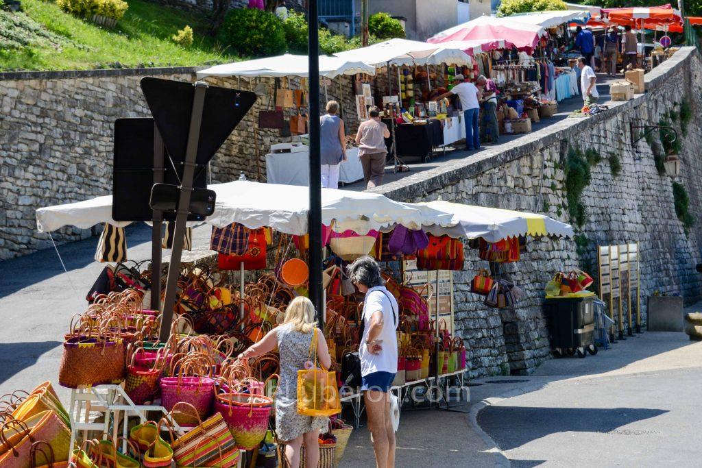 Basket stall at Bonnieux Friday morning market