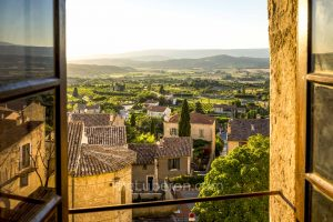 Bonnieux valley view from window
