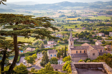 View from top of Bonnieux over Luberon valley