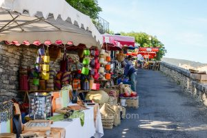 Bonnieux Friday morning market colourful stands