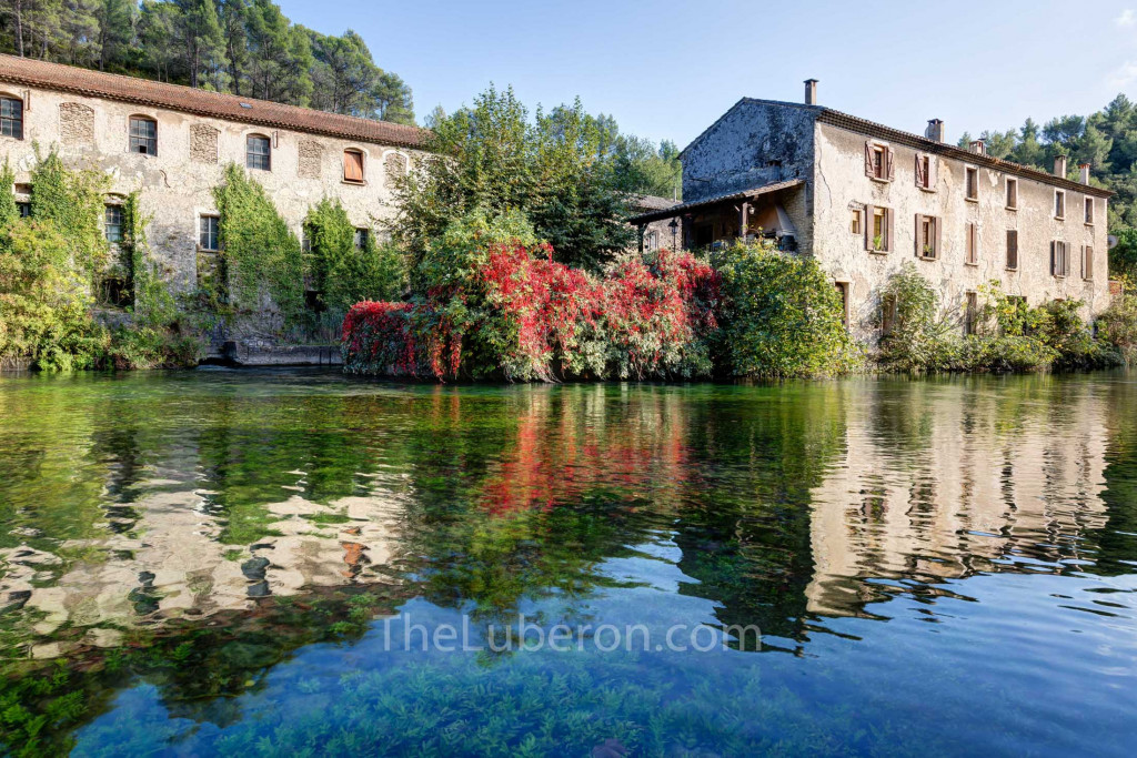 Abandoned buildings on the Sorgue river