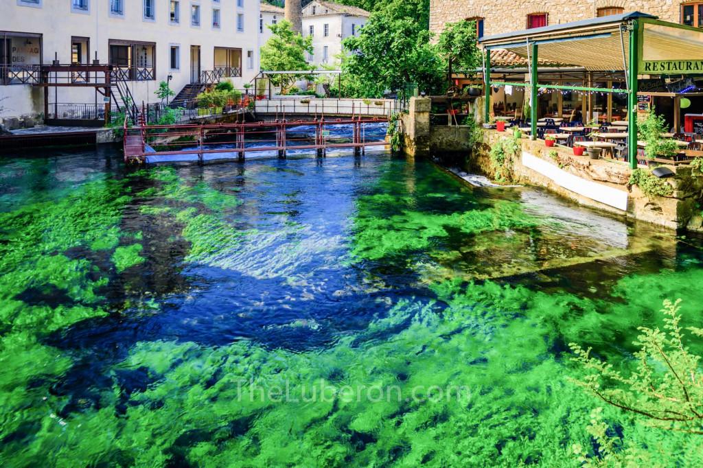 Restaurant on the Sorgue river