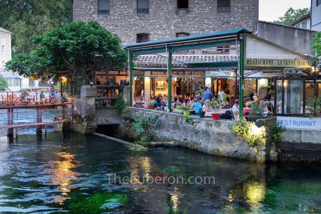 La Vanne Marel restaurant in Fontaine-de-Vaucluse