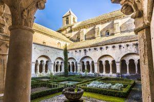 Cloister garden in Senanque Abbey