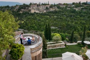 View from the bastide de Gordes hotel