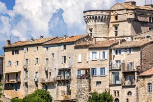 Houses and castle in Gordes