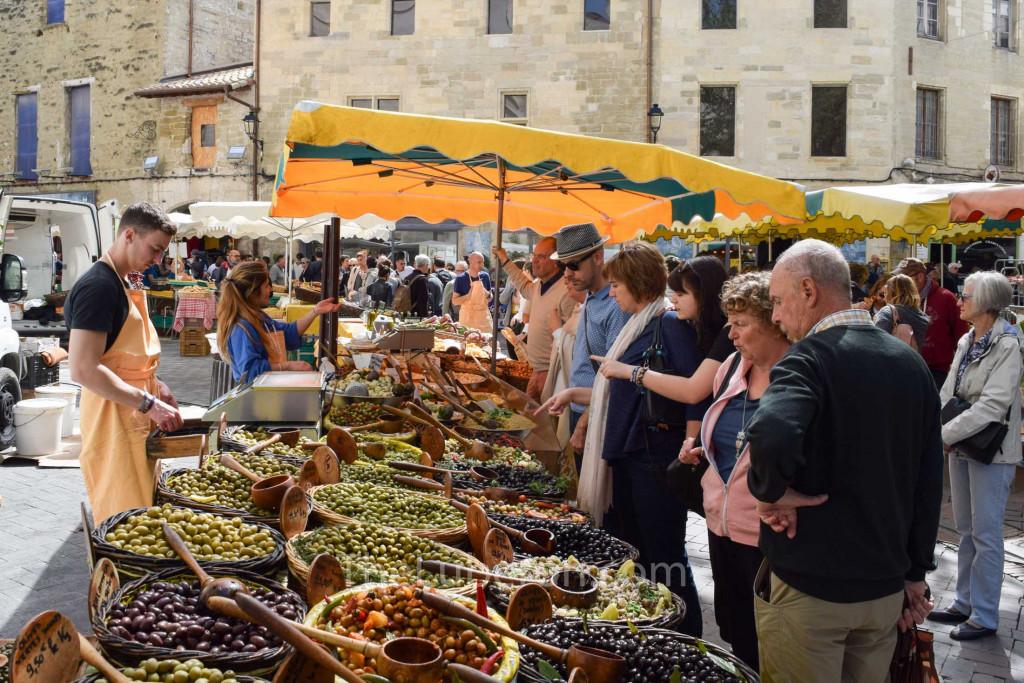 Sunday food market olive stall