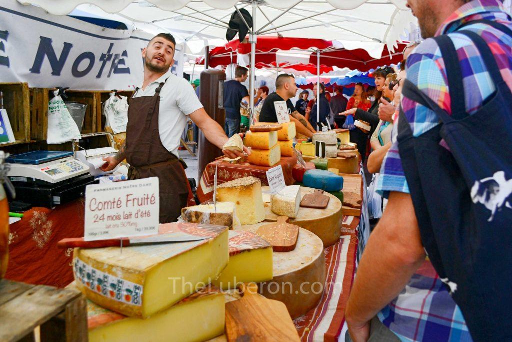Foor market stall in l'Isle-sur-la-Sorgue