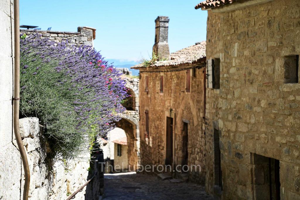 Street in village of Lacoste
