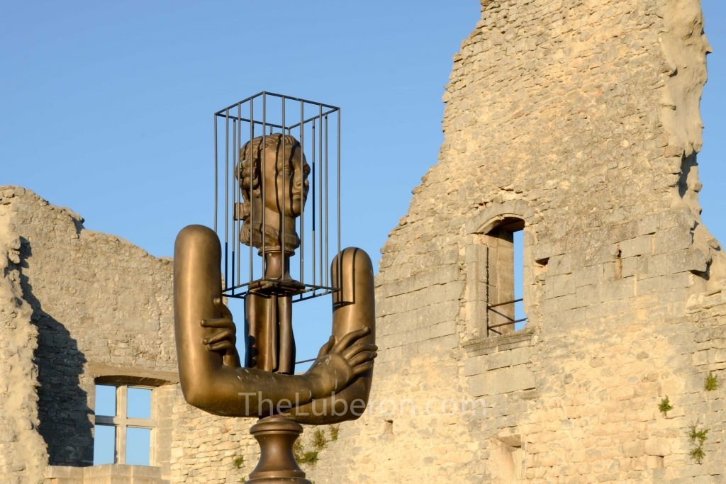 Artwork at Lacoste castle
