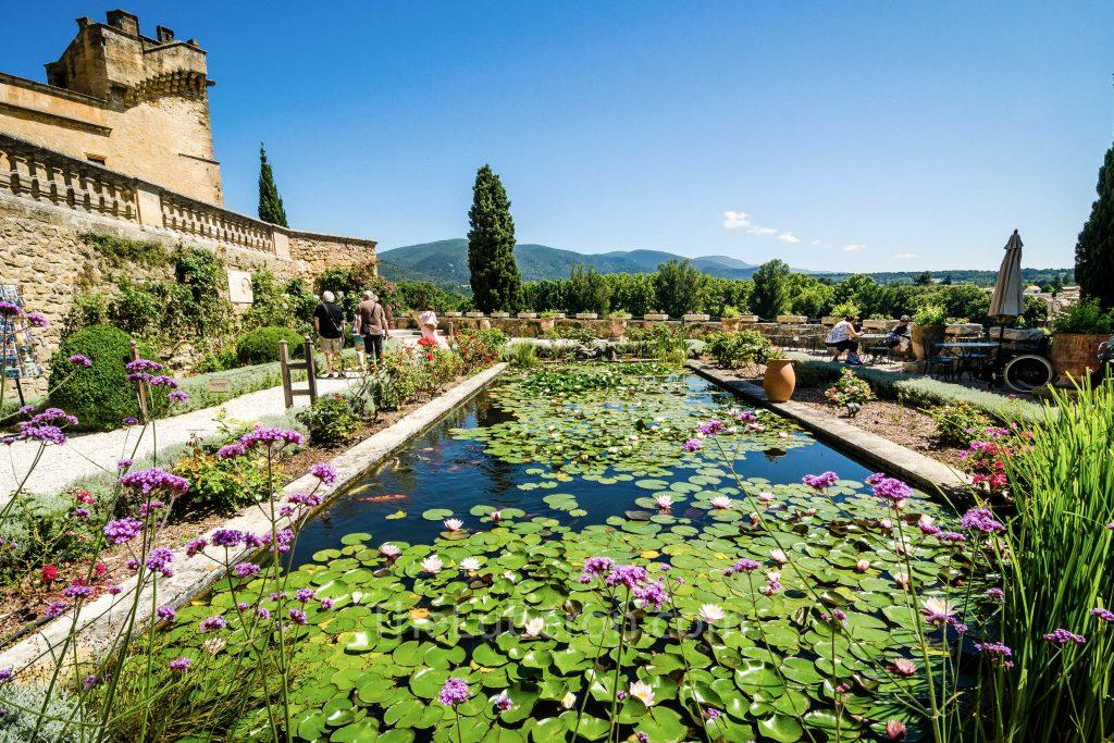 Lourmarin castle pond
