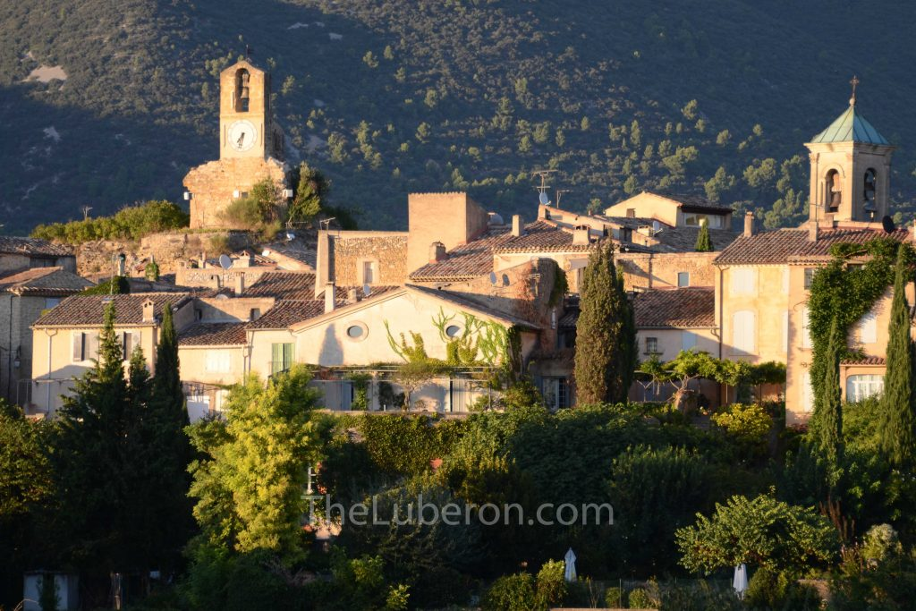 Lourmarin village view at sunset