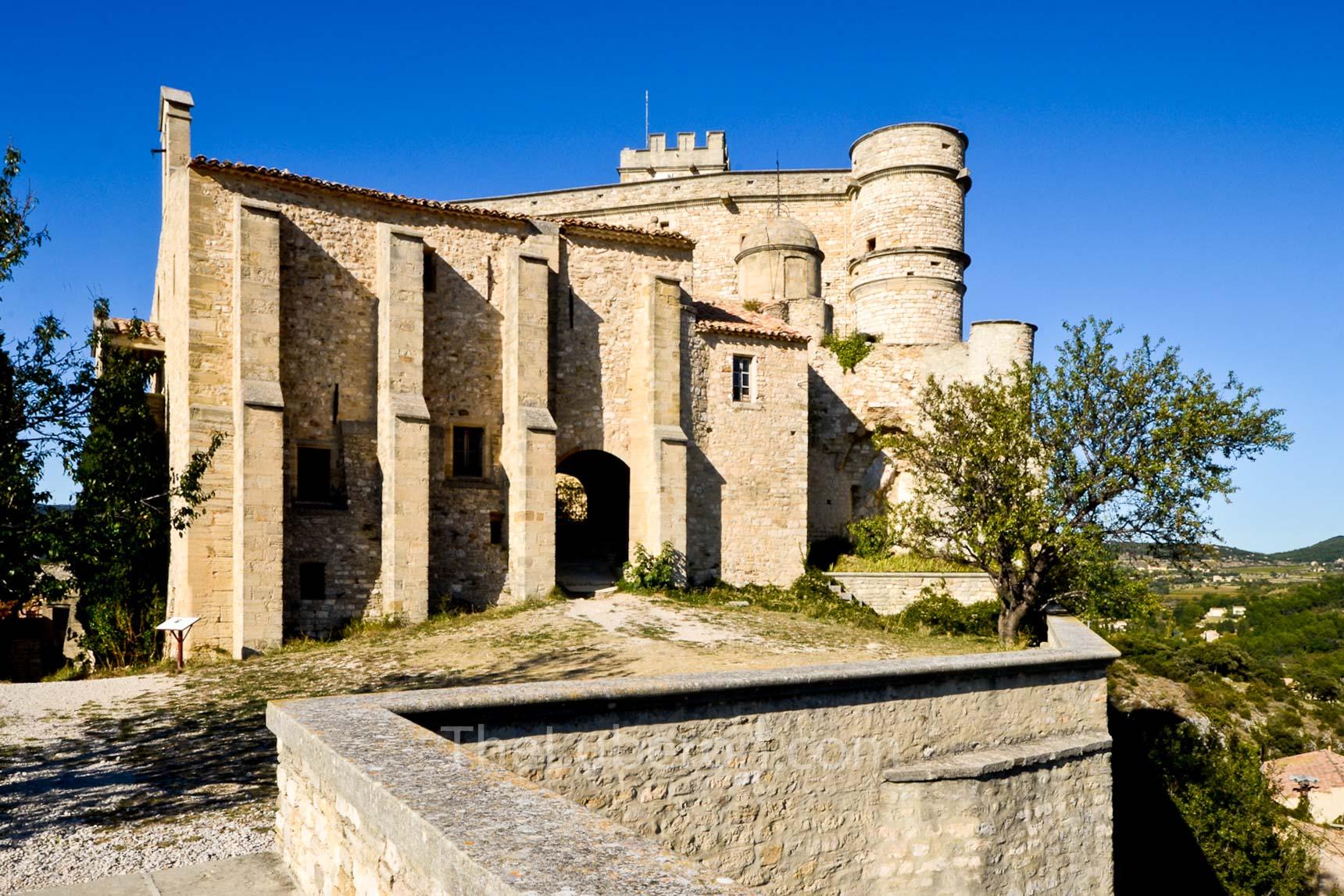 The castle at Le Barroux