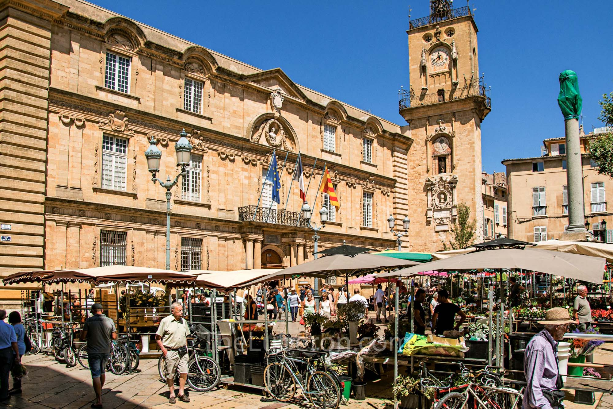 Flower market in Aix-en-Provence