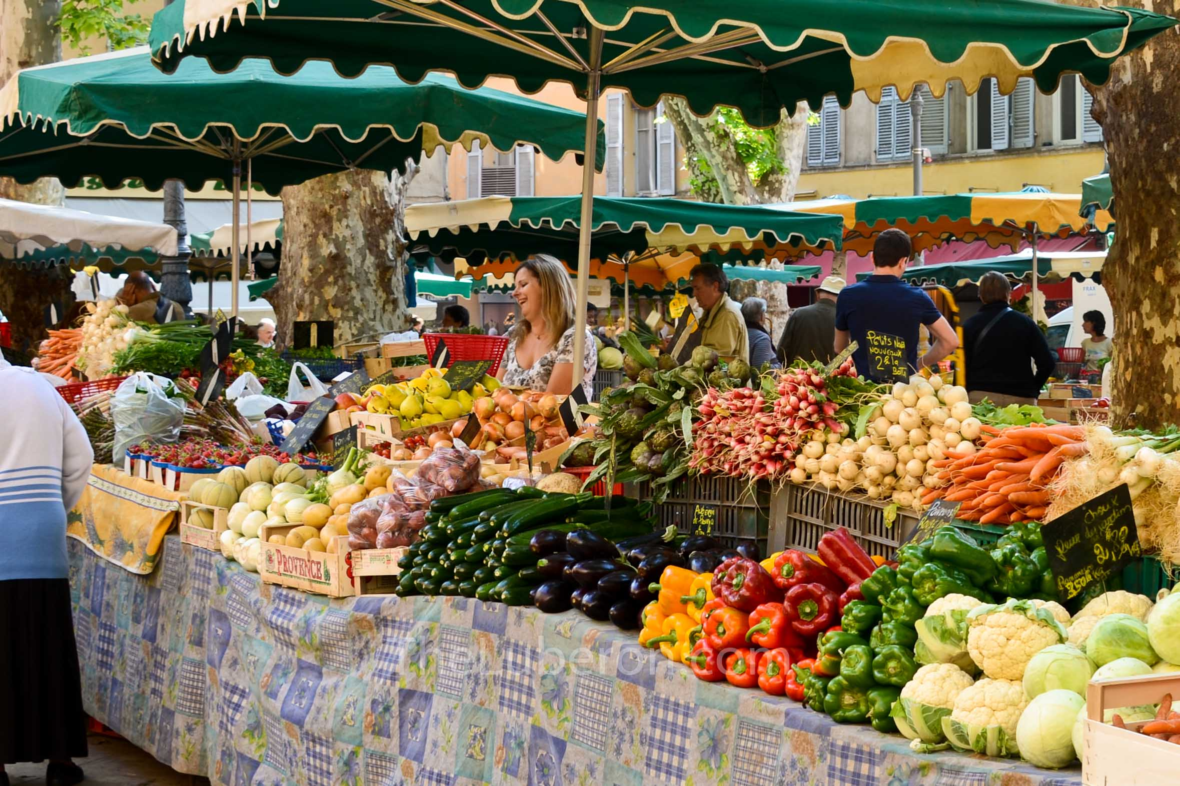 Market in town square