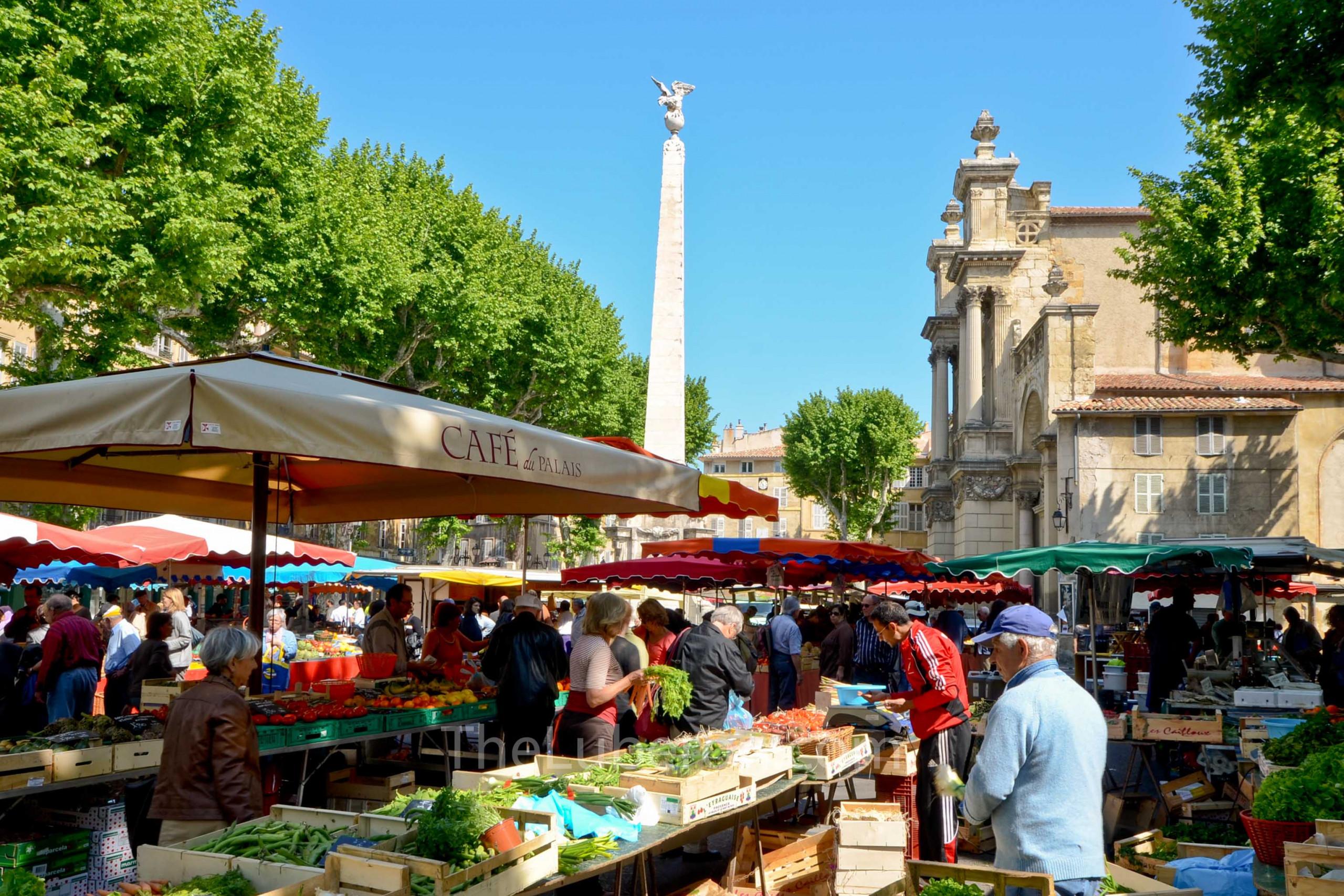 Market in Place des Precheurs, Aix