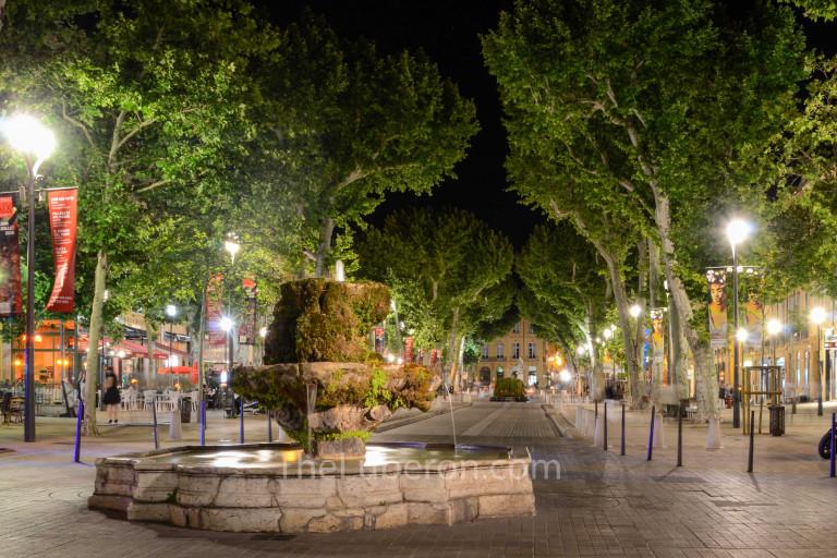 Night street view in Aix