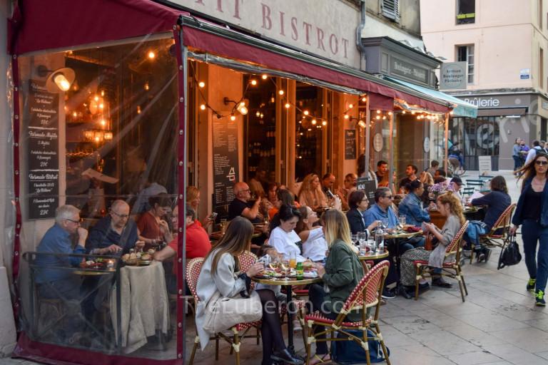 Cafe evening scene