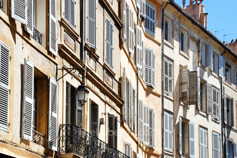 Shutters on old facade in Aix