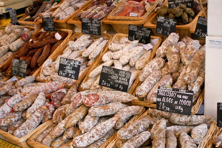 Salamis at Bonnieux market