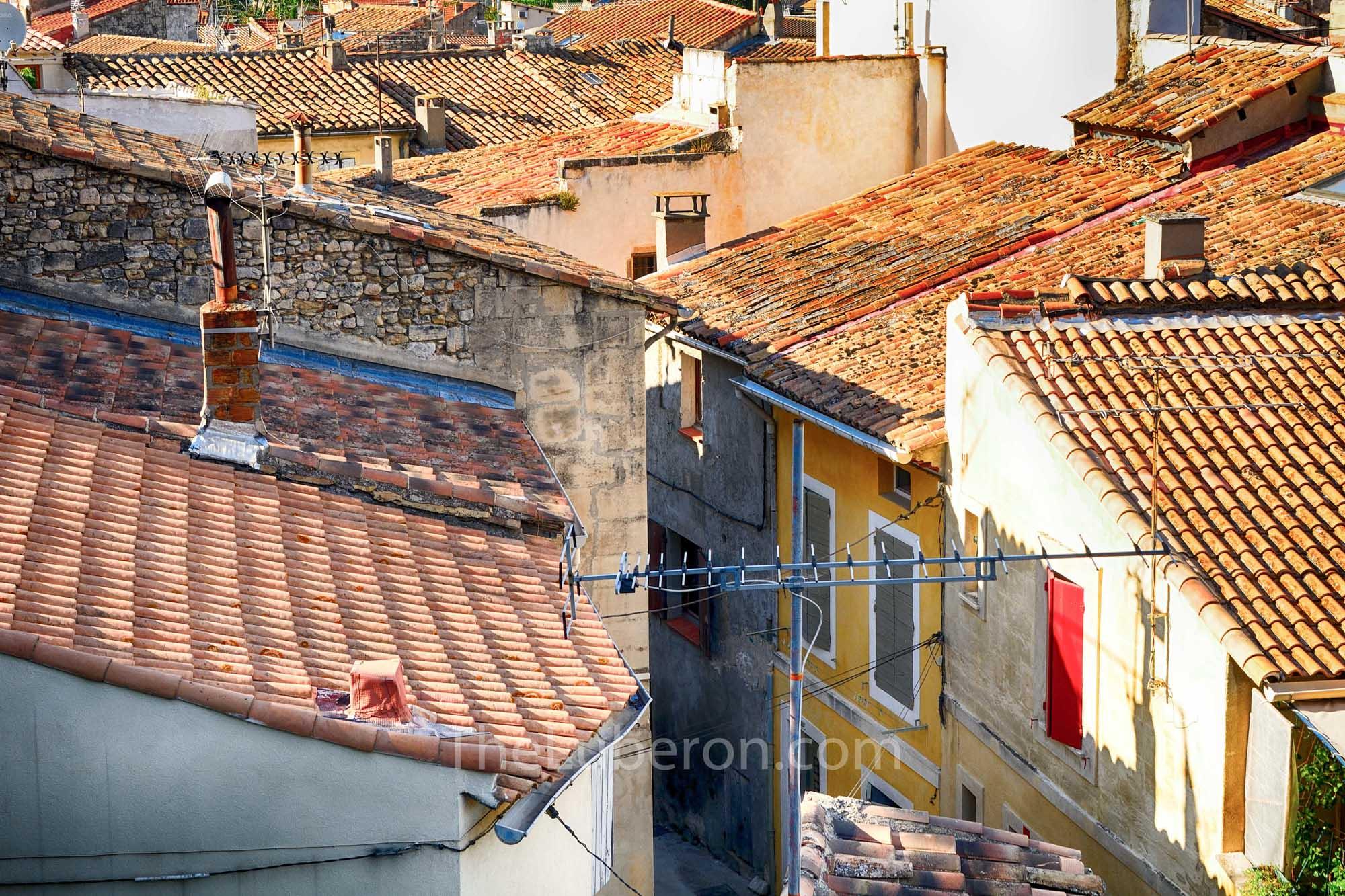 Arles old town rooftops