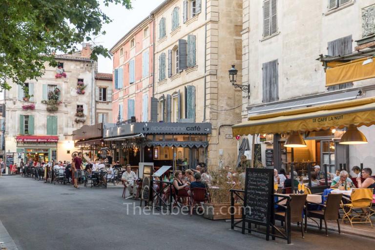 City square full of restaurants