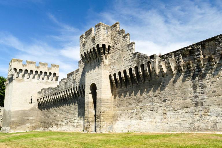 Old city walls of Avignon