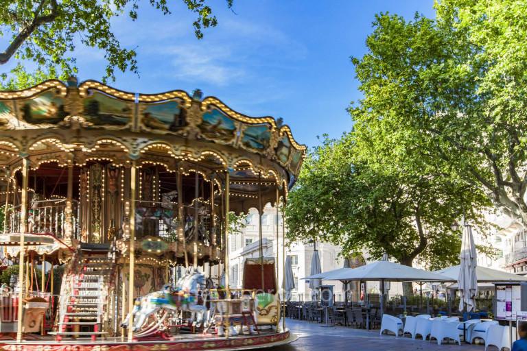 Merry-go-round in Avignon