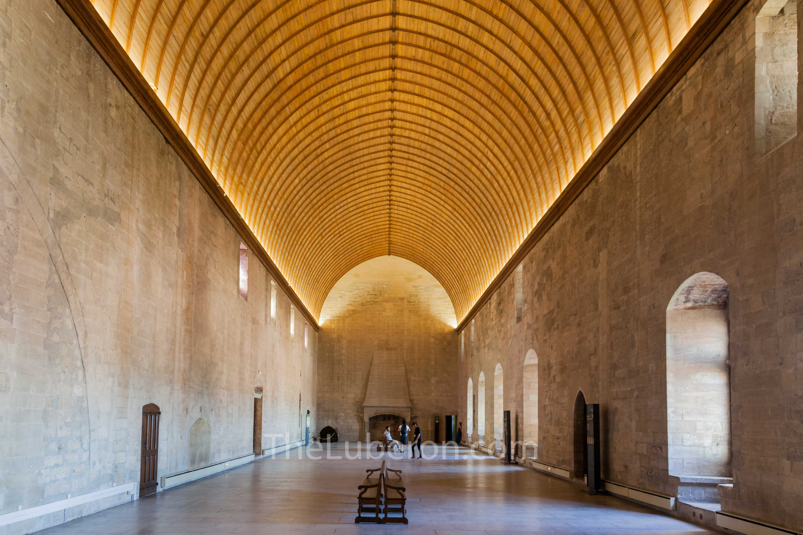 Vast interior of Popes' Palace