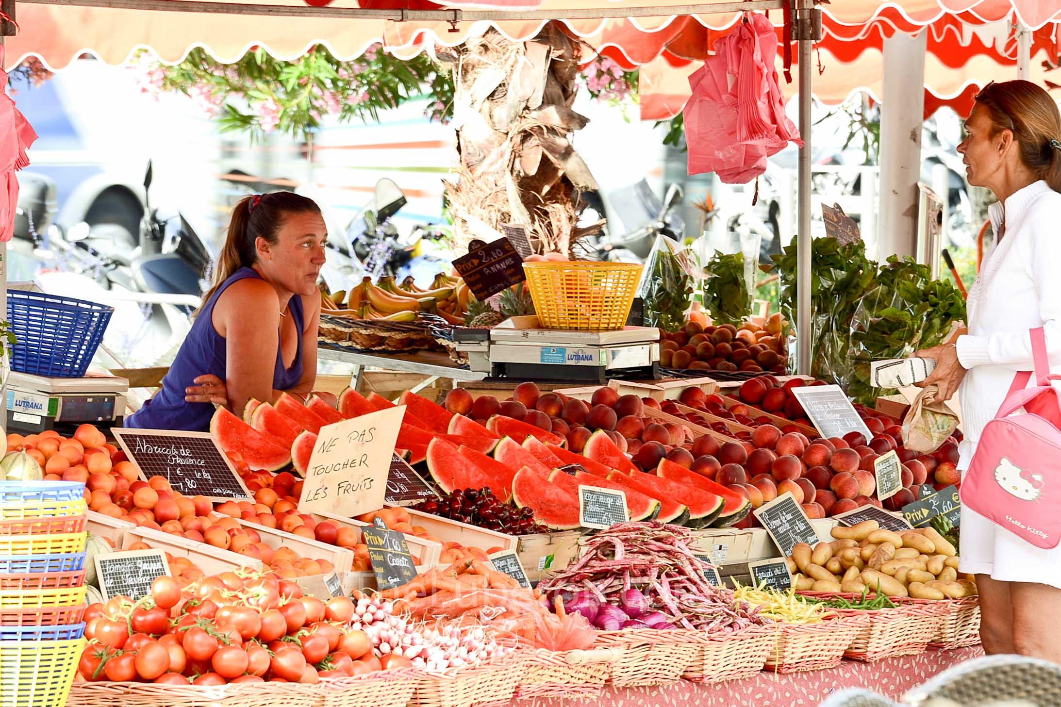 Market stall at Bandol