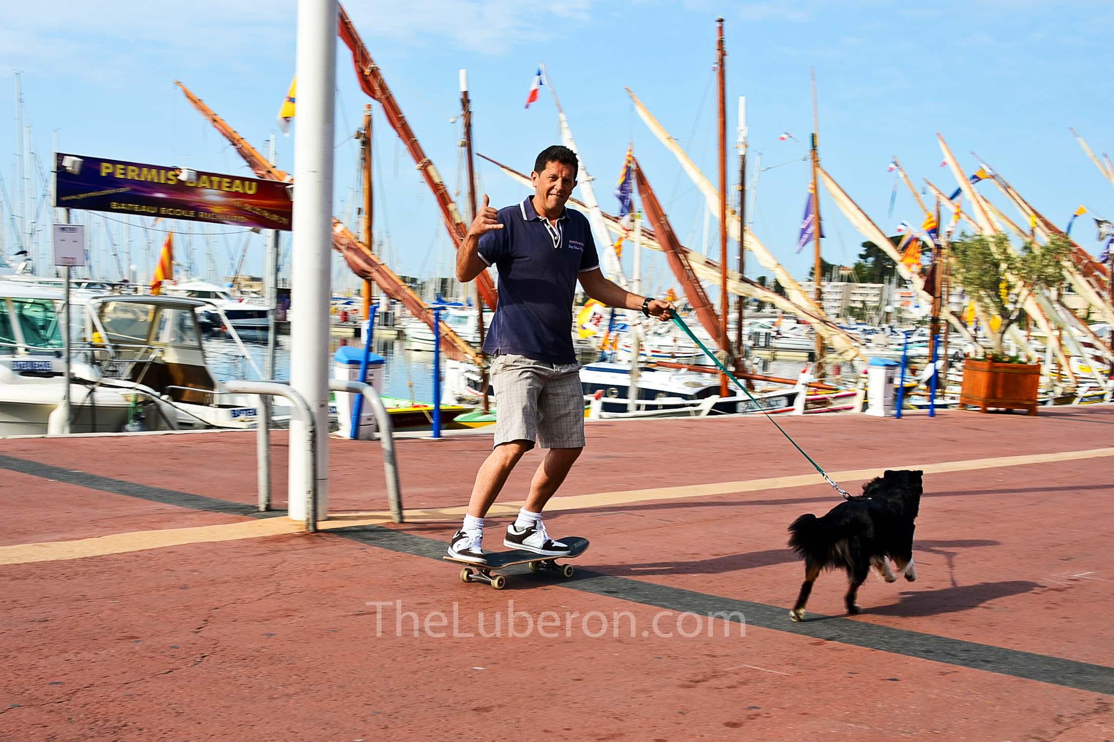 Man with dog in Bandol
