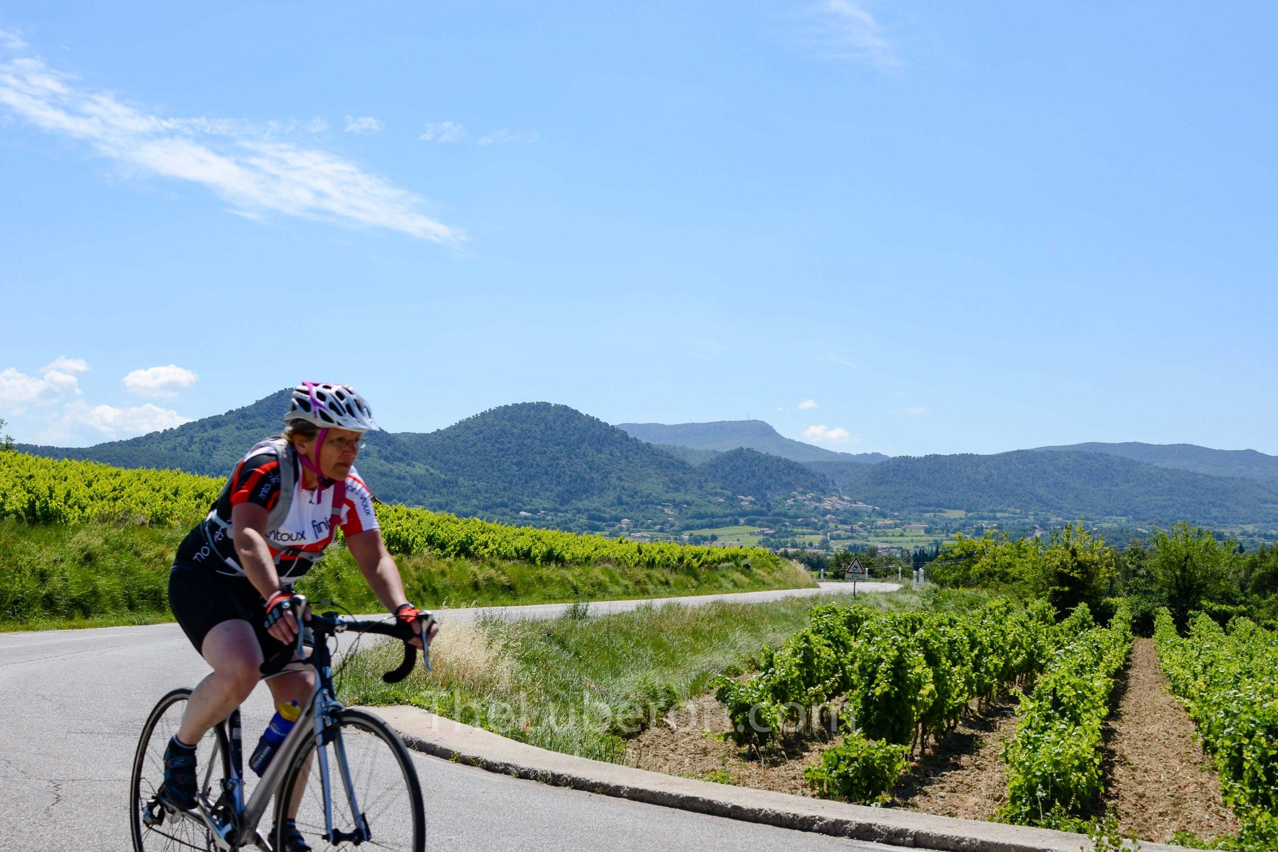 Cyclist near Mont Ventoux