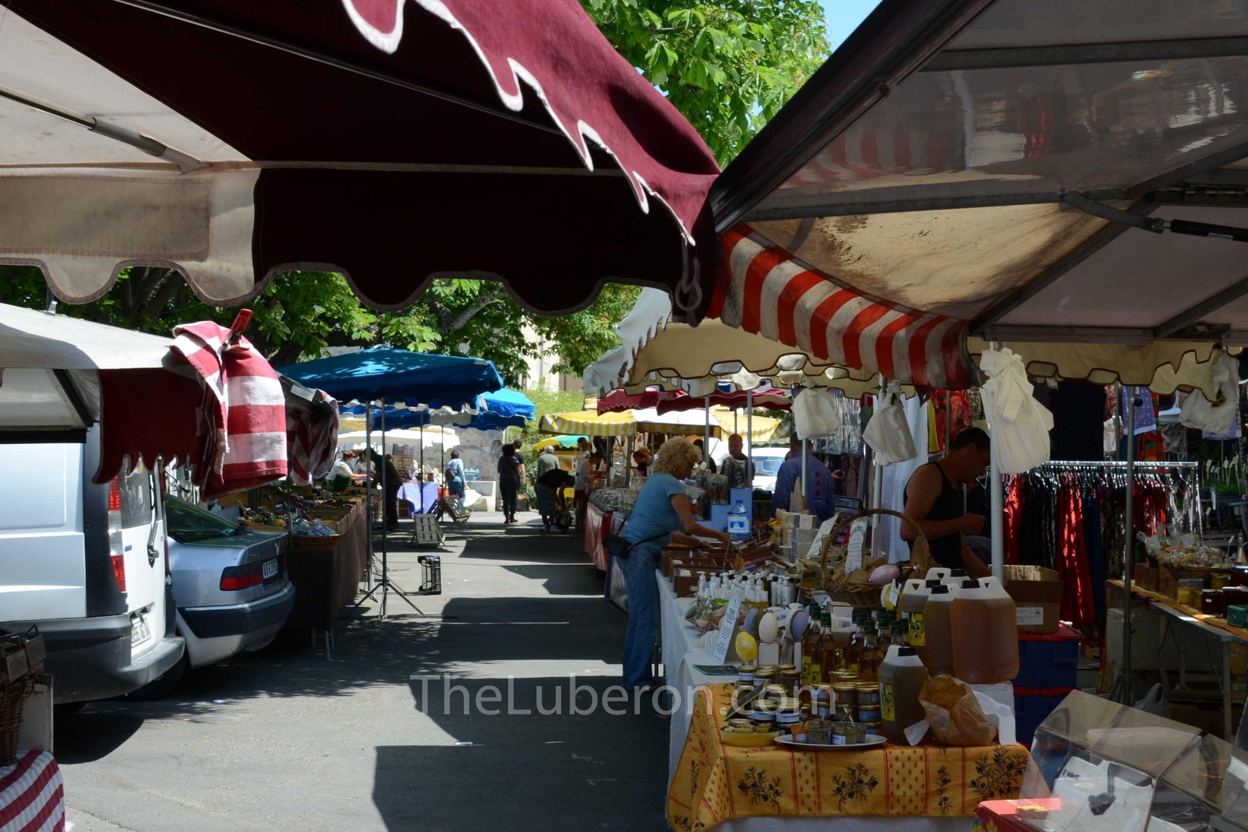Stalls at Bonnieux market