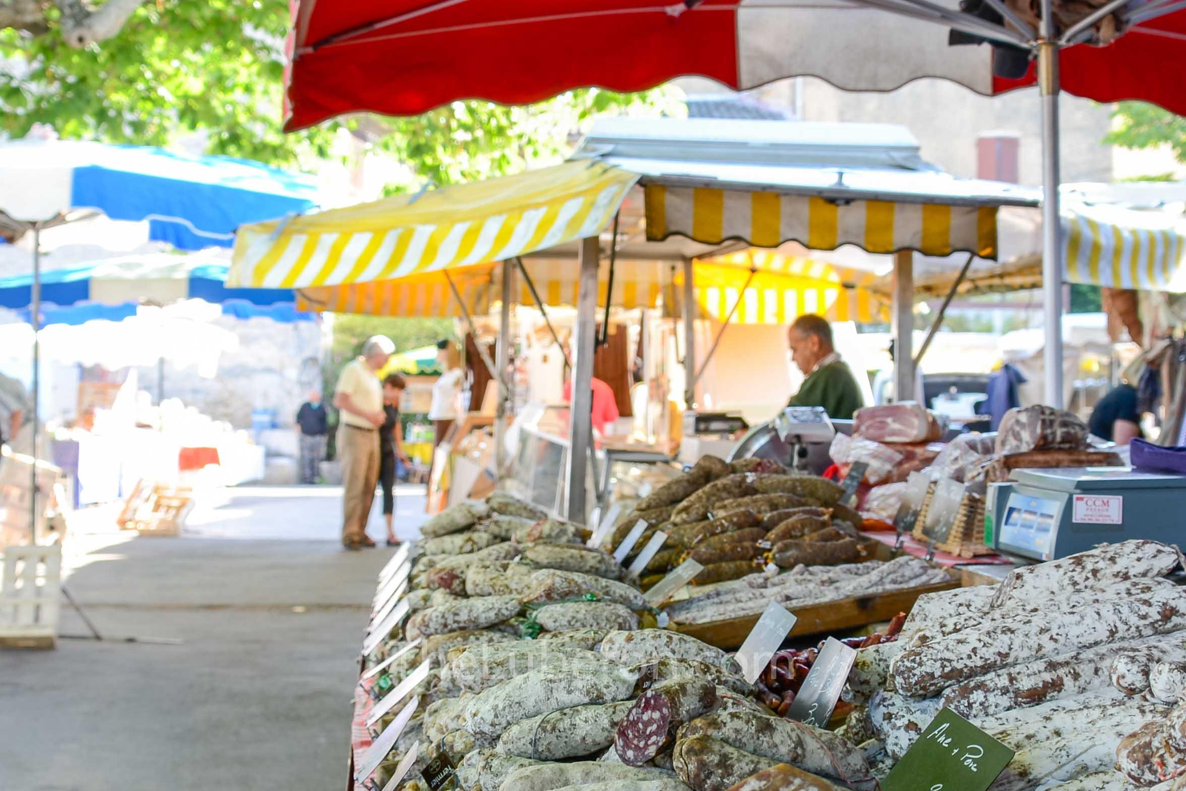 Salami at Bonnieux market