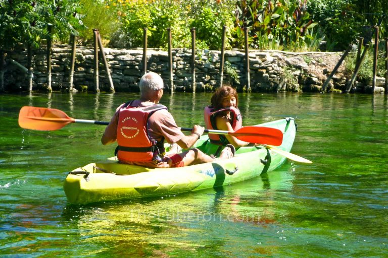 Canoeing on the Sorgue river