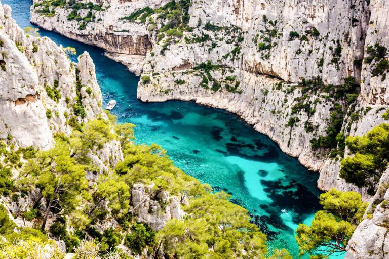 Calanque d'En-Vau aerial view