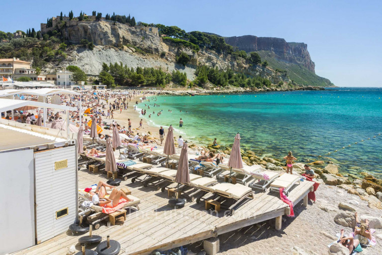 The main beach at Cassis