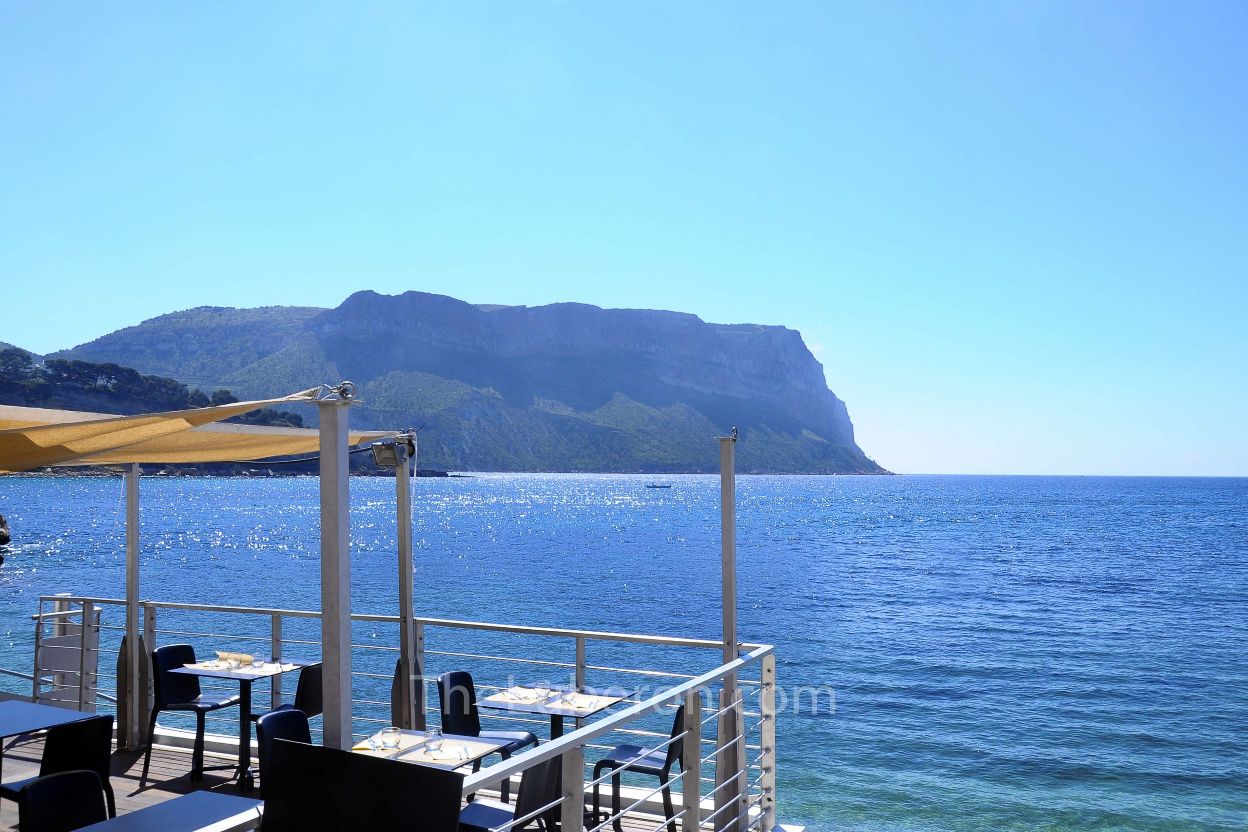 Loking out to sea from restaurant in Cassis