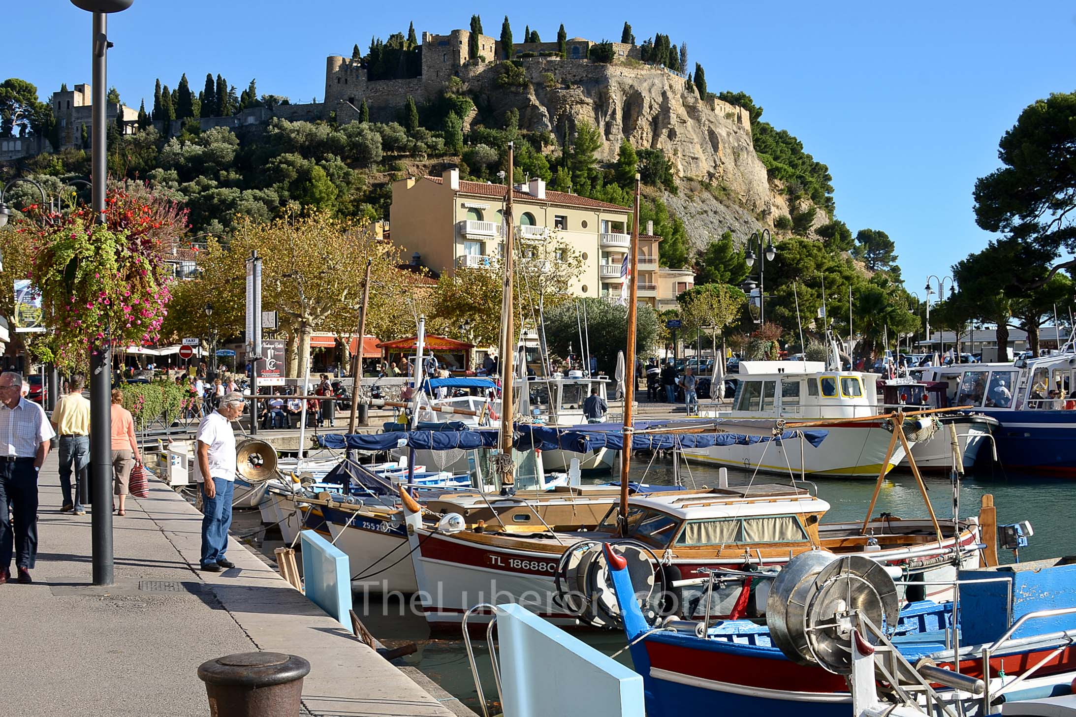 Castle on hill at Cassis