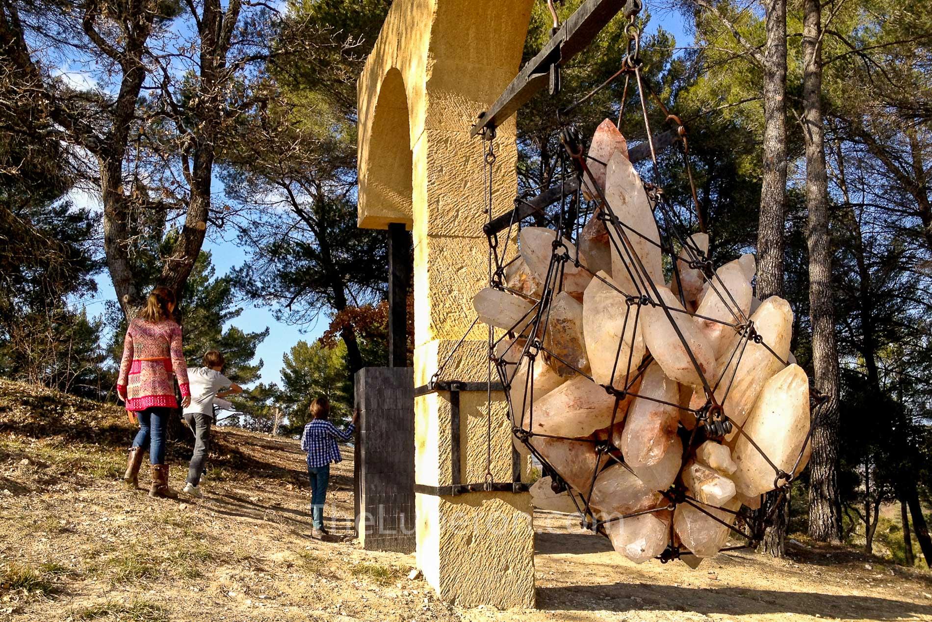 Art piece at Chateau La Coste