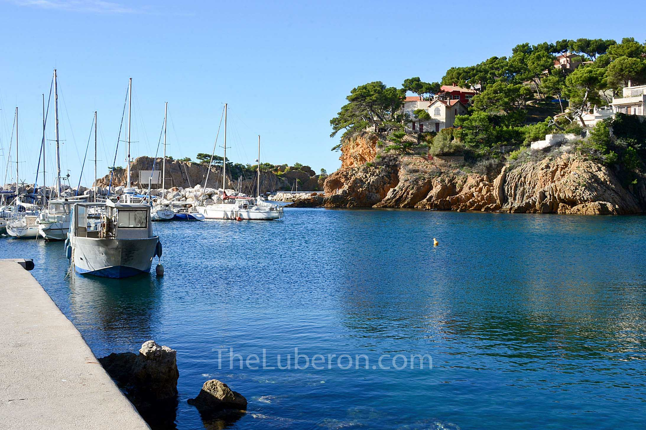Boats in the harbour at Ensues-la-Redonne, Cote Bleue