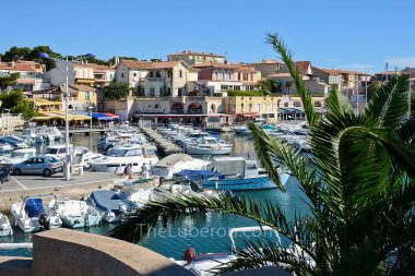 Boats in the harbour at Sausset-les-Pins