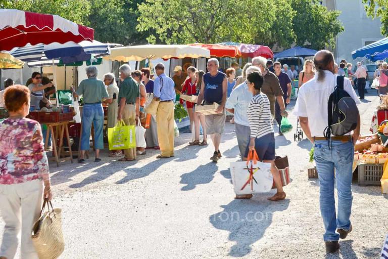 Scene from Coustellet Sunday market