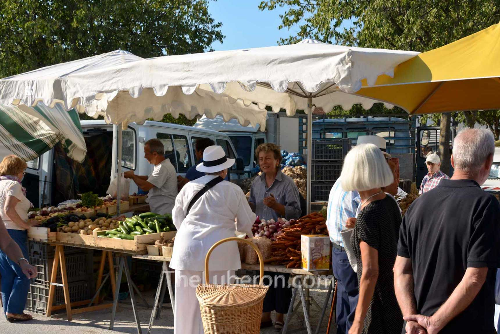Stall at Coustellet farmers' market