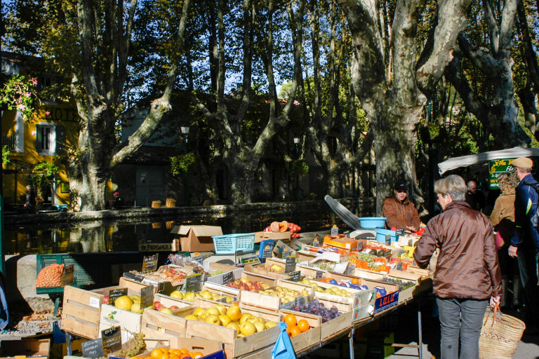 Fruit stall at Cucuron market