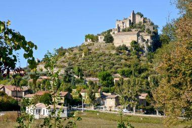 Entrechaux village in the Dentelles