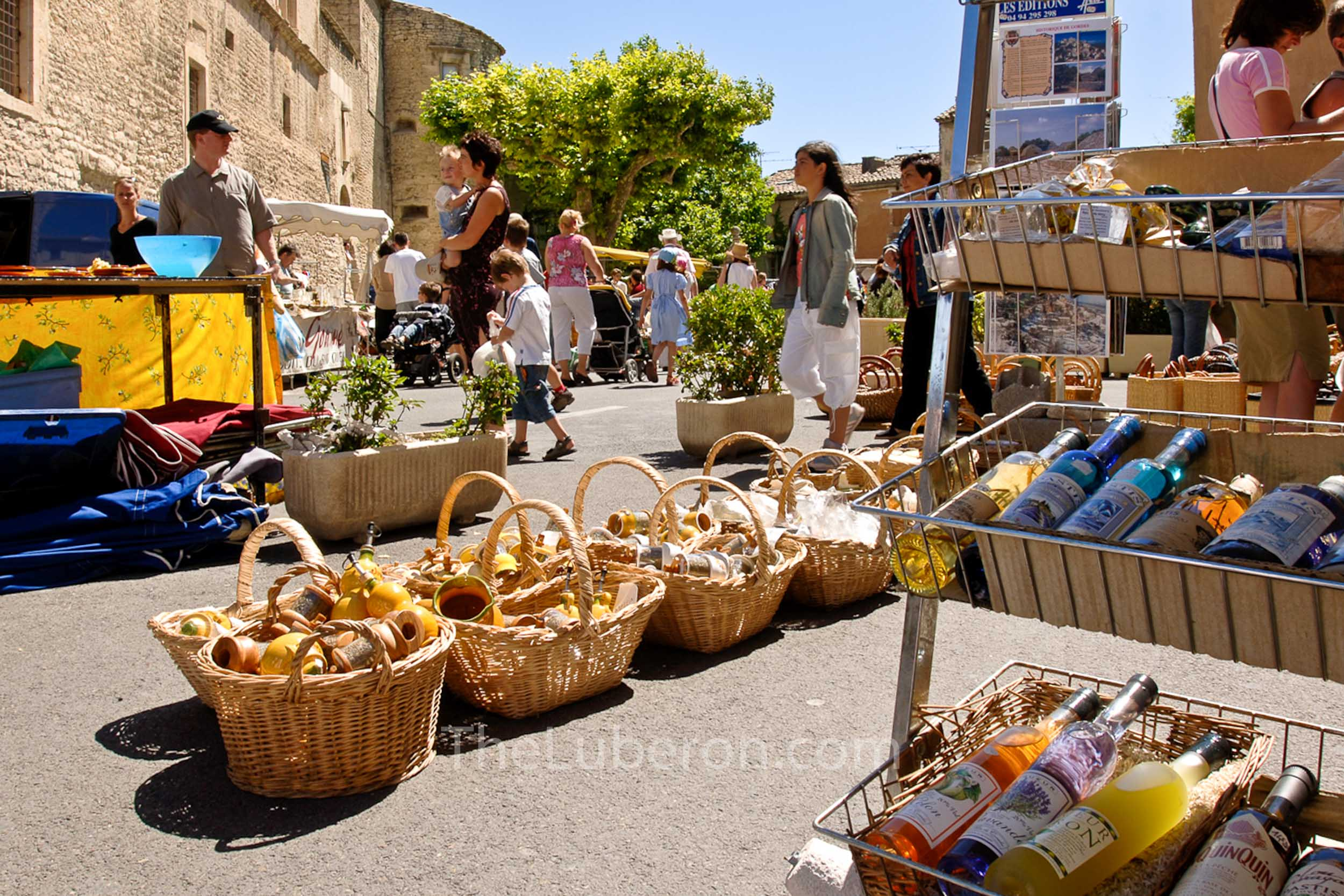 Baskets at Gordes market